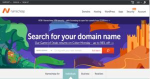 The best cheap option available – NameCheap