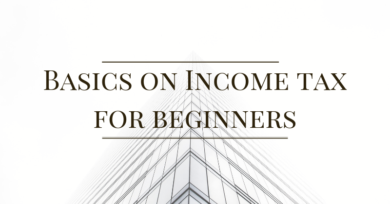 Basics on income tax for beginners