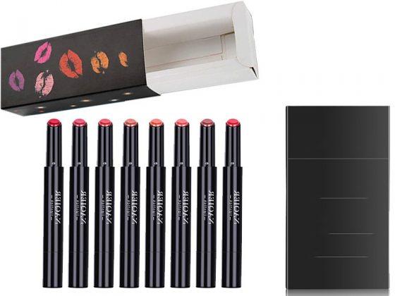 Kraft Packaging Boxes with Window for Displaying Vegan Lipsticks